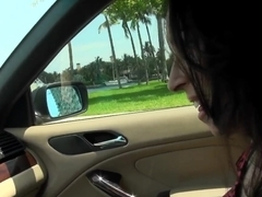 Michelle Heart & Preston Parker relax in a car