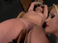 Alysa and Kathia Nobili in hot bondage game