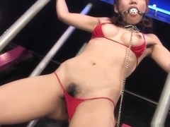 Yui Shimizu is moaning while tied up and getting fingerfucke