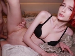 Sexy Babe Blowjob Big Dick Lover and Hard Doggy Sex in Lingerie