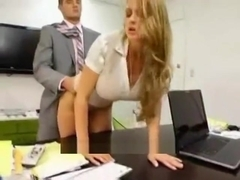 Big boobed secretary wants to get fucked by her boss