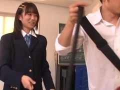 Asuka Hoshino Asian teen in school uniform gets hard fucking