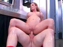 Hot Slut Wife (Diamond Foxxx) With Bigtits Love Intercorse On Cam vid-12