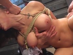 Black Widow: Chanel Preston Gets Gangbanged!