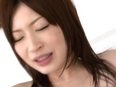 Alluring Japanese Oshima Riko group fucked and cream-pied