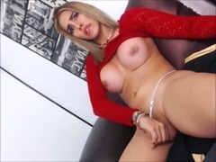 Blonde Trap With A Fuckable Ass Masturbating Hard
