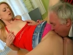 Honey Is Delighting Mature Teacher With Her Beaver