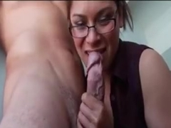 Amazing Handjob From Teacher In Glasses