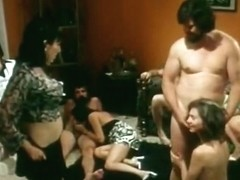 Hottest facial vintage scene with David Ruby and Helgar Pedrini