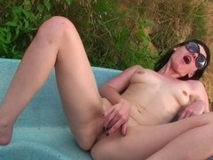 Agnes & Bella Margo  & Eniko & Julia Taylor in two horny students fuck a slutty chick in nature