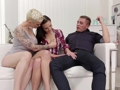 Mommy and daddy taking care of young horny girl
