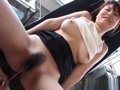 Asian Cutie Gets Cunt Toyed And Fucked Deep With A Bottle