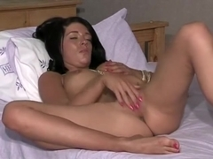 Dark Young Brunette Takes Him On!