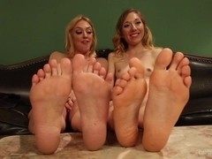 Foot obsessed stepmom MILF gets fucked by step daughter