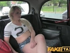 FakeTaxi: Dong hungry juvenile blond in taxi anal