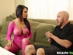 Busty masseuse gets fuck