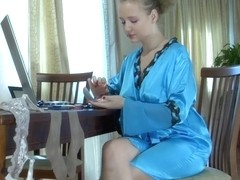 LacyNylons Clip: Alina