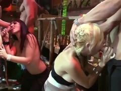 Hot Bombshells Pleasure Cocks In A Bar
