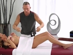 Arousing massage turns on splendid Kat Dior
