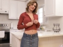AuntJudys - Housewife Alby Strips And Masturbates In Th