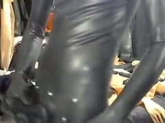 full rubber stroke and cum