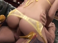Crazy pornstar Anaya Leon in hottest facial, big tits porn video