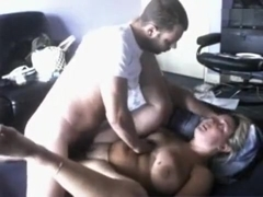 Perfect blonde enjoying a hardcore missionary fuck in bed