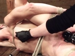 Bella Bends in First Timer Bella Bends Lives Up To Her Name - HogTied