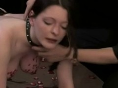 Perverted busty slut gets a kinky treatment