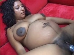 DARKSOME SKIN LARGE BOOBED PREGGY HARDCORE