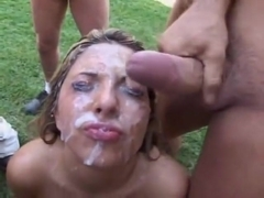Sweet Karina Kay gets Covered in Come