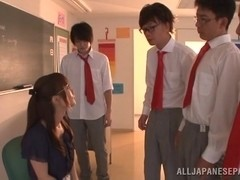 Minami Kojima naughty Asian milf in glasses in bukkake