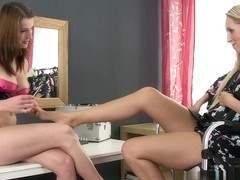 Jenny Simons and Victoria Daniels in HD Pissing Video All About Pedicure