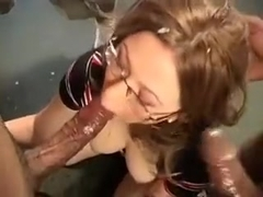 Horny Blonde Eaten By Her Boss In The Limousine