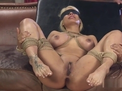 Tied Up And Blindfolded Blonde Banged