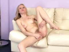 Cute Tracey Sweet caresses herself for fun