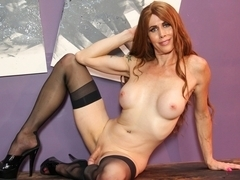 Nadia Vixen Jacks Off  - TGirl40