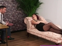 Ginger Brit Cocksucking Therapist For Facial