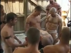 Hot Daddies in Piss Gangbang