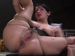 Alt master rough bangs brunette slave