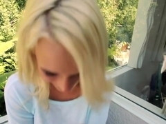 Blonde petite Texas girl gives a great...