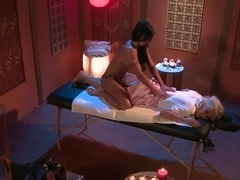 Jazy Berlin and Jewels Jade enjoy in steaming hot massage