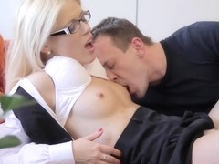 Sweet Cat In Hot Slav Tutor Sucks Off Lucky Chap