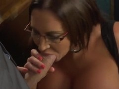 Danny D is having real sex fun with busty Emma Butt at work