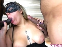 Mundo Corno - Two Big Cock For Chubby Wife