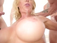 Bimbo Whore Blowbang Throat Fuck