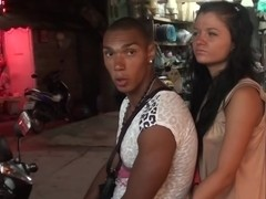 Bella Margo  in strip party in a hot vacation porn video