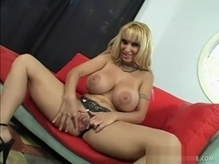 Stacked blonde cougar Holly Halston is in need of a hard cock drilling her snatch