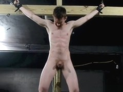 Crucified Twink Fucks Himself With Dildo_BDSM Gay Bondage.mp4