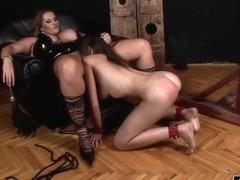 Laura M. In Horny Mistress Punishes An Innocent Babe